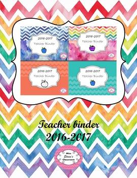 Teacher binder printable 2016 - 2017