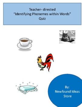 Teacher-directed Phoneme Quiz
