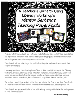 Guide to Using Literacy Workshop's Interactive Mentor Sent
