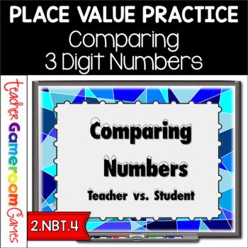 Teacher vs. Student - Comparing Numbers - 2.NBT.4