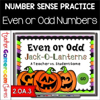 Teacher vs. Student - Even or Odd Jack-O-Lantern Powerpoint Game