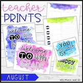 Teacher PRINTS August {teacher stationary and printables}