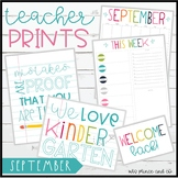 Teacher PRINTS September {teacher stationary and printables}