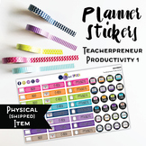 Teacherpreneur Productivity Planner Stickers - Solid Brigh