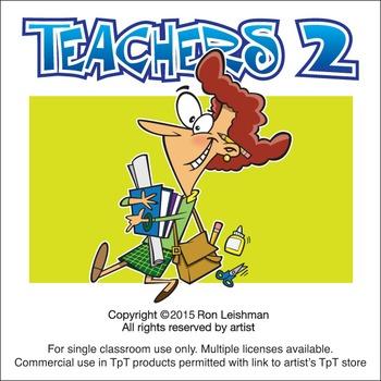 Teachers 2 Cartoon Clipart