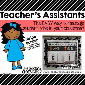 Teachers Assistants Job Chart - Stripes