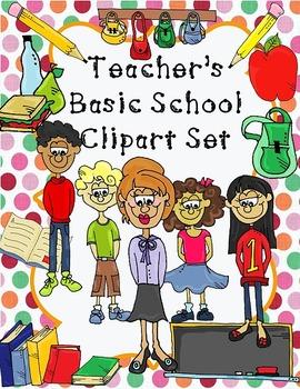 Teacher's Basic School Clip Art Set