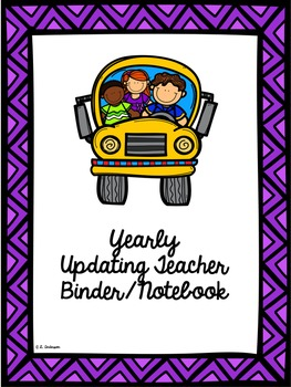 Editable Teacher's Binder (Notebook) in Purple