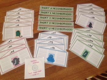 Teacher's Creatures Short Vowel Neighborhoods (Laminated W