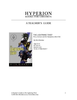 Teacher's Guide The Lightning Thief