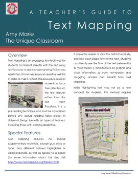Teacher's Guide to Text Mapping FREEBIE