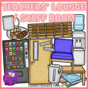 Teachers' Lounge / Staff Room clip art: crayon effect