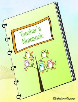 Teacher's Notebook- Kindergarten-Owls