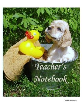Teacher's Notebook-Puppy Theme