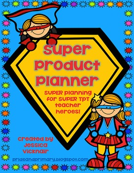 Teachers Pay Teachers SUPER Product Planner! Editable!!
