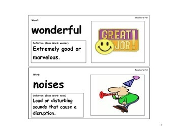 Teacher's Pet Vocabulary Cards
