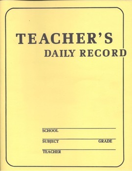 2014 - 15 Teacher's Planner/Binder with First Day of Schoo
