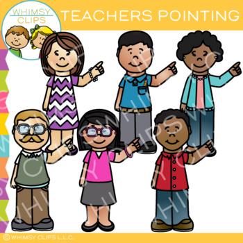 Teachers Pointing Clip Art