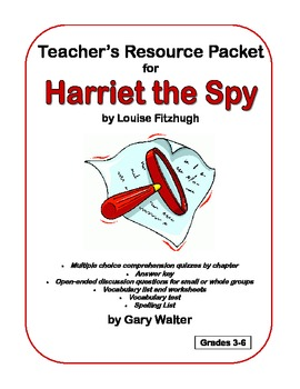 Teacher's Resource Packet for Harriet the Spy