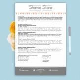 Teacher's Resume Design Template Docx | White and Grey