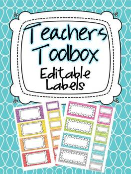 Teacher's Toolbox 22 Editable Labels
