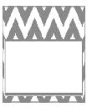 Teachers Toolbox Editable Labels Gray Chevron