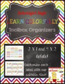 Teachers Toolbox Editable Labels Learn Colorfully