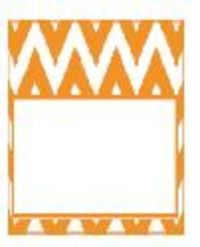 Teachers Toolbox Editable Labels Orange Chevron