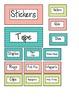 Teacher's Toolbox (Editable)- Green, Pink, Blue Chevron