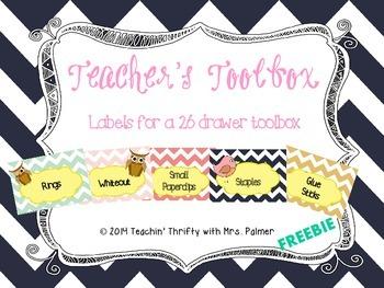 Teacher's Toolbox Labels: Birds & Chevron