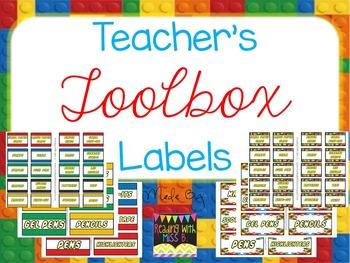 "Teacher's Toolbox Labels - ""Building Blocks"" {EDITABLE Fil"