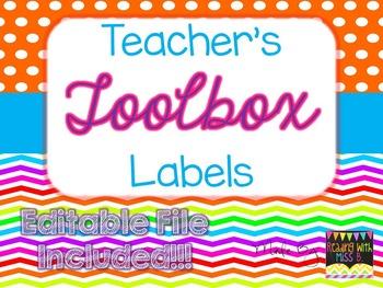 Teacher's Toolbox Labels - Rainbow Brights {EDITABLE FILE