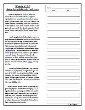 Informational Text Leukemia/Jeffery's Symptoms (Drums,Girl
