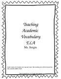 Teaching Academic Vocabulary