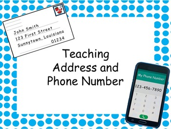 Teaching Address and Phone Number- Editable!