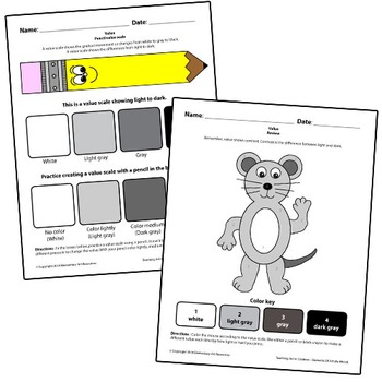 Teaching Art To Children - Elements Of Art, Value, Pencil