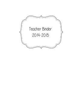 Teaching Binder 2014-2015