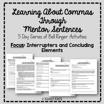 Teaching Commas Through Mentor Sentences: Interrupters and