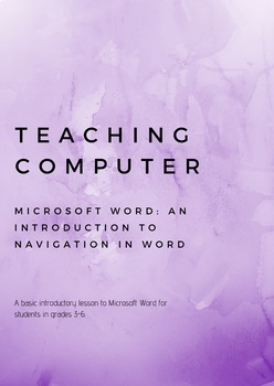 Teaching Computer Introduction to Microsoft Word