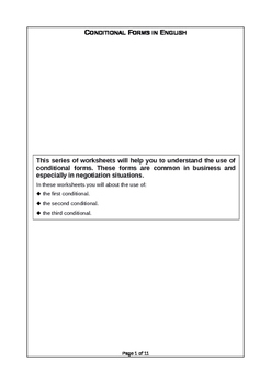 Teaching Conditional forms - Grammar and Activities - EFL