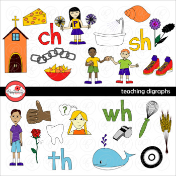 Teaching Digraphs Clipart by Poppydreamz