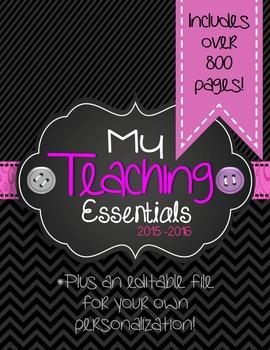 Teaching Essentials Binder in Black Multi