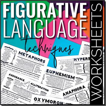 Teaching Figurative Language Techniques {Worksheets}