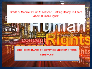 Teaching Human Rights: UDHR Lesson 1