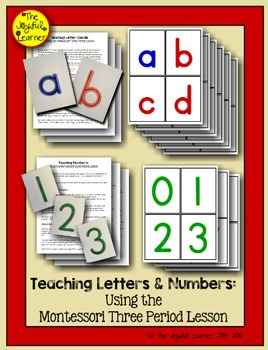 Teaching Letters & Numbers using the 3-Period Lesson (+ Wr