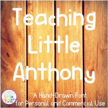 Teaching Little Anthony Font for Commercial Use
