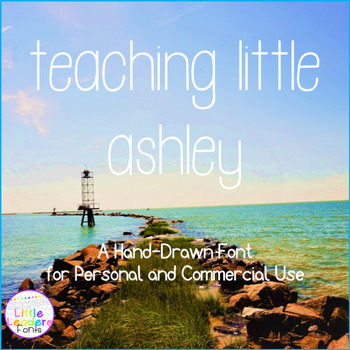 Teaching Little Ashley Font for Commercial Use