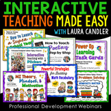 Interactive Teaching Made Easy PD Webinars