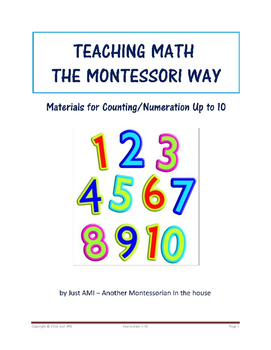 Teaching Math the Montessori Way - Materials for Counting/