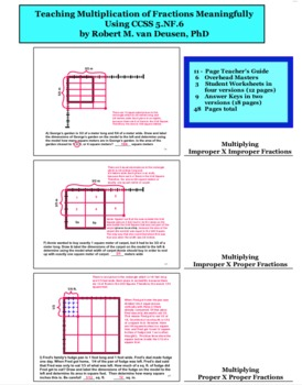 Teaching Multiplication of Fractions Meaningfully Using Ar